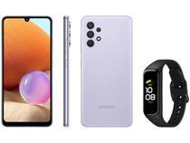 Smartphone Samsung Galaxy A32 128GB Violeta 4G - 4GB RAM + Smartband Galaxy Fit2 Preto