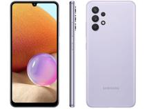 "Smartphone Samsung Galaxy A32 128GB Violeta 4G - 4GB RAM Tela 6,4"" Câm. Quádrupla + Selfie 20MP -"