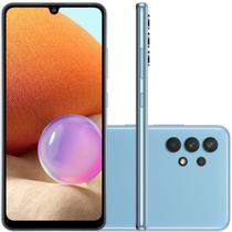 """Smartphone Samsung Galaxy A32 Câmera Quádrupla de 64MP Tela Infinita de 6,4"""" 128GB 4GB Azul -"""