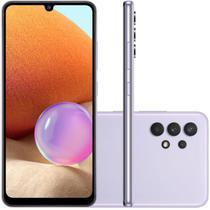 """Smartphone Samsung Galaxy A32 Câmera Quádrupla de 64MP Tela Infinita de 6,4"""" 128GB 4GB Violeta -"""