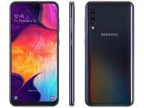 "Smartphone Samsung Galaxy A50 128GB Preto 4G - 4GB RAM Tela 6,4"" Câm. Tripla + Câm. Selfie 25MP"