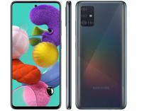 "Smartphone Samsung Galaxy A51 128 GB Dual Chip Android Tela 6.5"" Octa-Core 4 GB Câmera Quádrupla 48MP + 12MP + 5MP + 5MP - Preto -"