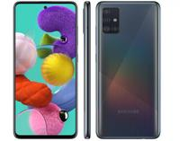 """Smartphone Samsung Galaxy A51 128GB Preto 4G - 4GB RAM 6,5"""" Câm. Quádrupla + Câm. Selfie 32MP"""