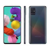 Smartphone Samsung Galaxy A51 128GB Tela Infinita 6.5 Polegadas Câmera Traseira Quádrupla Leitor Digital na Tela e Processador Octa-Core - Samsumg