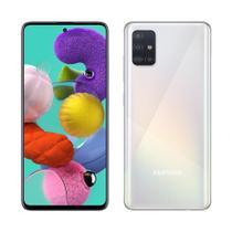 "Smartphone Samsung Galaxy A51, Dual Chip, Branco, Tela6,5"", 4G+WiFi+NFC, Android, Câm Traseira 48+12+5+5MP e Frontal 32MP,128GB -"