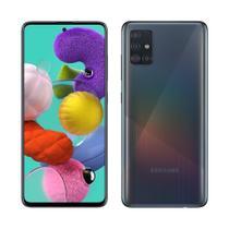 "Smartphone Samsung Galaxy A51, Dual Chip, Preto, Tela 6,5"", 4G+WiFi+NFC, Android, Câm Traseira 48+12+5+5MP e Frontal 32MP,128GB -"