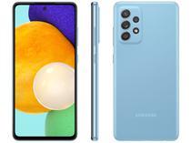 "Smartphone Samsung Galaxy A52 128GB Azul 4G - 6GB RAM Tela 6,5"" Câm. Quádrupla + Selfie 32MP"