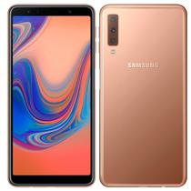 "Smartphone Samsung Galaxy A7 A750G, Dual Chip, 6"", Camera Tripla, Android 8.0, 128GB, 4GB - Cobre -"