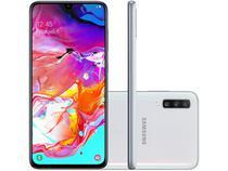 "Smartphone Samsung Galaxy A70 128GB Branco 4G - 6GB RAM Tela 6,7"" Câm. Tripla + Selfie 32MP"