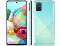 "Smartphone Samsung Galaxy A71 128GB Azul 4G - 6GB RAM Tela 6,7"" Câm. Quádrupla + Selfie 32MP"