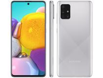 "Smartphone Samsung Galaxy A71 128GB Cinza 4G - 6GB RAM Tela 6,7"" Câm. Quádrupla + Selfie 32MP"