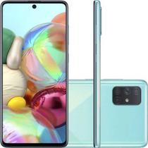 "Smartphone Samsung Galaxy A71, Tela Infinita de 6.7"" 128GB 6GB RAM Azul -"