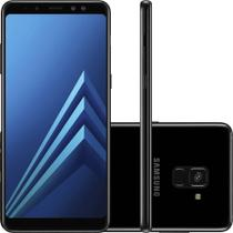 Smartphone Samsung Galaxy A8  64GB Preto - Dual Chip 4G Câm. 16MP   Selfie 16MP   8MP Tela 6""