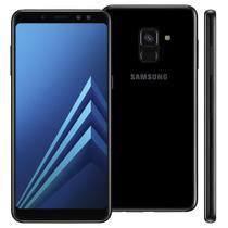 "Smartphone Samsung Galaxy A8, Dual Chip, Android 7.1, 16MP, 64GB, Tela 5,6"" - Preto -"