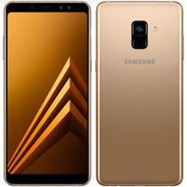 """Smartphone Samsung Galaxy A8+, Dual Chip, Dourado, Tela 6"""", 4G+WiFi+NFC, Android 7.1, Câmera Frontal Dupla 16MP + 8MP e 64GB -"""