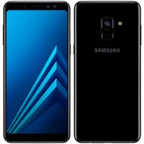 "Smartphone Samsung Galaxy A8, Dual Chip, Preto, Tela 5.6"", 4G+WiFi+NFC, Android 7.1, Câmera Frontal Dupla 16MP + 8MP e 64GB -"