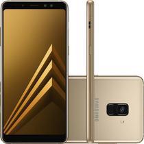 Smartphone Samsung Galaxy A8 Plus Dourado Dual Chip 64GB Tela de 6 Câmera de 16MP -