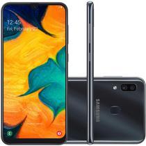"Smartphone Samsung Galaxy Galaxy A30 Preto Octa Core/64GB/4GBRAM/Tela 6"" -"