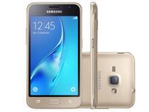 """Smartphone Samsung Galaxy J1 2016 8GB Dourado - Dual Chip 3G Câm. 5MP Tela 4.5"""" Proc. Quad Core"""