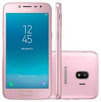 "Smartphone Samsung Galaxy J2 Pro - Tela 5"" Super AMOLED - 16GB - Dual Chip - Camera 8MP - Rosa - SM-J250"