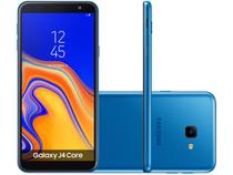 "Smartphone Samsung Galaxy J4 Core 16GB Azul 4G - Quad Core 1GB RAM Tela 6"" Câm. 8MP + Selfie 5MP"