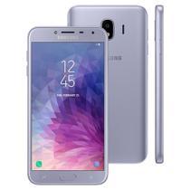 Smartphone Samsung Galaxy J4 Dual chip, 4G, Câmera 13MP, Android 8.0, Processador Quad Core e RAM de 2GB, 32GB, Prata, Tela 5.5 -