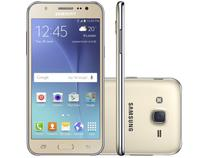 "Smartphone Samsung Galaxy J5 Duos 16GB Dourado - Dual Chip 4G Câm 13MP + Selfie 5MP Flash Tela 5""HD"