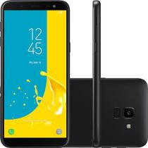 Smartphone Samsung Galaxy J6, 32GB, Dual Chip, Android, Tela 5.6 Pol, Octa-Core, 4G 13MP, TV - Preto