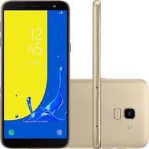 """Smartphone Samsung Galaxy J6 32GB Dual Chip Tela 5.6"""" Câmera 13MP TV Digital Android 8.0 Dourado -"""