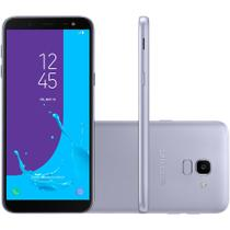 Smartphone Samsung Galaxy J6 32GB Dual Chip Tela 5.6 Câmera 13MP TV Digital Android 8.0 Prata
