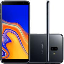 Smartphone Samsung Galaxy J6+ 32GB Dual Chip Tela 6'' Dual Câmera 13MP+5MP Frontal 8MP Preto -