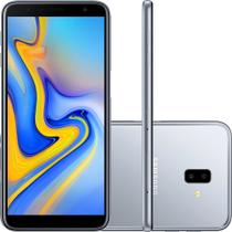 "Smartphone Samsung Galaxy J6+ 32GB Prata 4G - 3GB RAM Tela 6"" Câm. Dupla + Câm. Selfie 8MP -"