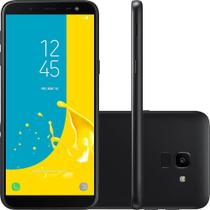 Smartphone Samsung Galaxy J6 DualChip Android 8.0 Octa-Core 1.6GHz 32GB Câm13MP com TV - Preto