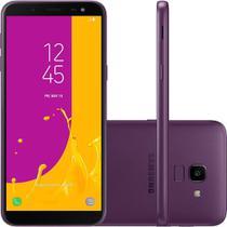Smartphone Samsung Galaxy J6 DualChip Android 8.0 Octa-Core 1.6GHz 64GB Câm 13MP com TV - Violeta -