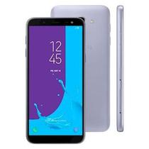 "Smartphone Samsung Galaxy J6 J600GT 32GB 2GB RAM Câmera Traseira 13MP e Frontal 8MP Tela 5.6"" Prata -"