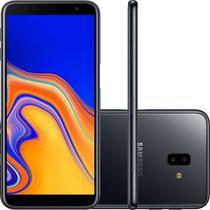 "Smartphone Samsung Galaxy J6 Plus Preto 32GB 3GB RAM Tela infinita de 6"" Dual Câmera 13MP 5MP -"