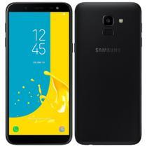 Smartphone Samsung Galaxy J6 Preto, Dual Chip, Tela 5.6'', Android 8.0, Câmera 13MP, Memória 32GB - 4G -
