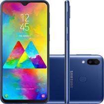 "Smartphone Samsung Galaxy M20 64GB Dual Chip Tela 6.3"" Octa-Core 4G Câmera 13MP + 5MP - Azul -"
