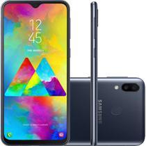 "Smartphone Samsung Galaxy M20 64GB Dual Chip Tela 6.3"" Octa-Core 4G Câmera 13MP + 5MP - Preto -"