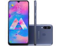 "Smartphone Samsung Galaxy M30 64GB Azul 4G - 4GB RAM Tela 6,4"" Câm. Tripla + Câm. Selfie 16MP"
