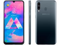 "Smartphone Samsung Galaxy M30 64GB Preto 4G - 4GB RAM Tela 6,4"" Câm. Tripla + Câm. Selfie 16MP"
