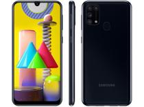 "Smartphone Samsung Galaxy M31 128GB Preto 4G - 6GB RAM Tela 6,4"" Câm. Quádrupla + Selfie 32MP -"