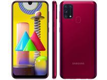 "Smartphone Samsung Galaxy M31 128GB Rosa 4G - 6GB RAM Tela 6,4"" Câm. Quádrupla + Selfie 32MP"
