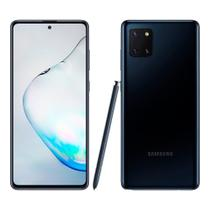 "Smartphone Samsung Galaxy Note 10 Lite Preto, Tela 6.7"",Câm Traseira 12+12+12MP e Frontal 32MP,128GB -"