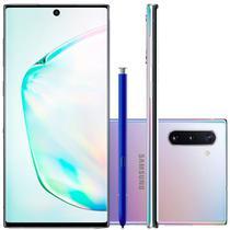 """Smartphone Samsung Galaxy Note 10 Prata 256GB 8GB RAM Tela de 6,4"""" Câmera Traseira Tripla -"""