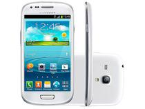 "Smartphone Samsung Galaxy S III Mini 8GB Branco 3G - Dual Core 1GB RAM Tela 4"" Câm. 5MP"