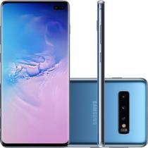 "Smartphone Samsung Galaxy S10 128GB Azul 4G - 8GB RAM Tela 6,1"" Câm. Tripla + Selfie 10MP -"