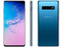 "Smartphone Samsung Galaxy S10+ 128GB Azul 4G  - 8GB RAM Tela 6,4"" Câm. Tripla + Câm. Selfie Dupla"
