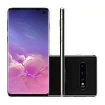 "Smartphone Samsung Galaxy S10 128GB Preto 4G Tela 6.1"" Câmera Tripla 16MP Selfie 10MP Dual Chip Android 9.0 -"
