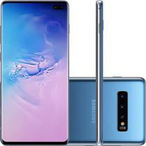 Smartphone Samsung Galaxy S10+ 128GB, Tela 6.4 Pol., Câmera Tripla Traseira 12MP + 12MP + 16MP - Azu -